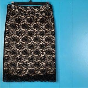 Banana Republic Skirts - 50% OFF! Banana Republic Black Lace Overlay Skirt